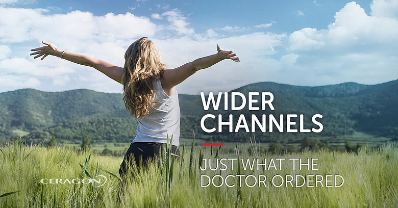 Widechannel bandwidth: Just what the doctor ordered