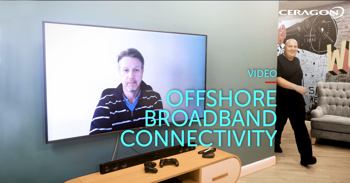 Offshore broadband connectivity